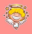 sticker emoji emoticon emotion walk hang out vector image vector image