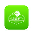 stingray icon green vector image vector image
