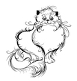 stylized Persian cat vector image vector image