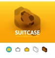 Suitcase icon in different style vector image vector image