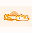 summertime orange color word text logo icon vector image
