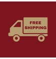 The free shipping icon Delivery and vector image vector image