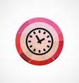 Time circle pink triangle background icon vector image vector image