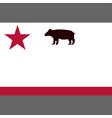 todd bear flag 1846 vector image vector image
