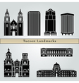 Tucson landmarks and monuments vector image