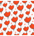 valentines day seamless pattern with red balloons vector image vector image