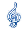 watercolor sign treble clef for a musical concert vector image vector image