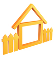 wooden home with fence vector image vector image