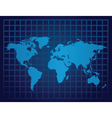 world map grid vector image vector image