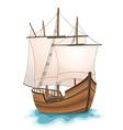 wooden ship vector image