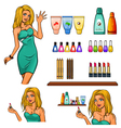 Set of cosmetics elements vector image