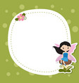 greeting card with cute fairy greeting card with vector image