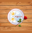 8 march with number eight shaped vector image vector image