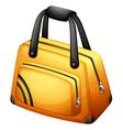 A yellow handbag vector image vector image