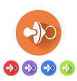 baby pacifier symbol vector image