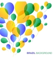 Balloons Background using Brazil flag colors vector image vector image