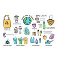 big set zero waste elements vector image vector image