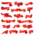 biggest collection of red ribbons vector image
