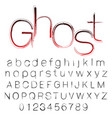bloody ghost hand written font vector image vector image