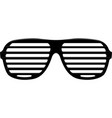 brindled or latticed sunglasses vector image