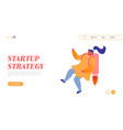 career boost working success website landing page vector image vector image