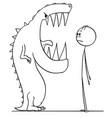 cartoon shocked man watching mouth vector image vector image