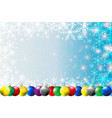 christmas balls snowflakes and stars vector image