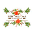 christmas gold border vector image vector image