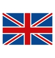 colorful british flag graphic vector image vector image
