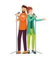 couple singers flat vector image