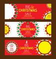 creative merry christmas marketing flyer design vector image
