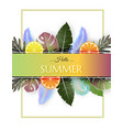 creative summer background with colorful fruit vector image vector image