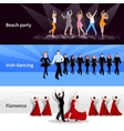 Dancing People Banners vector image vector image