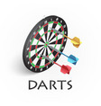 darts game background vector image vector image