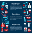 Dentistry treatment banner design template vector image vector image