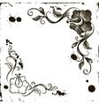 Doodle flower frame grunge