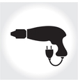 Drill tool icon black silhouette Element logo