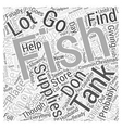 fish tank supplies Word Cloud Concept vector image vector image