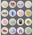 fitness flat icons 19 vector image vector image