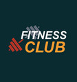 fitness gym logo sign bodybuilding club emblem vector image