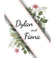 floral wedding invitations save date card vector image vector image