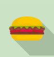 fresh burger icon flat style vector image vector image