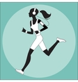 Girl athlete to jog music smartphone vector image
