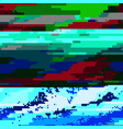 glitch colored background vector image vector image