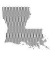 halftone gray louisiana state map vector image