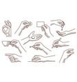 hand gestures set 2 vector image