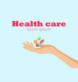 health care horizontal banner vector image vector image