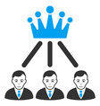 hierarchy men flat icon vector image vector image