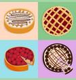 homemade organic pie dessert vector image vector image