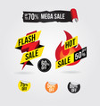 hot flash sale banner tag design collection vector image vector image